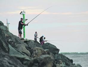 The breakwall is a very popular spot for all sorts of fishing, and for good reason.