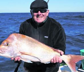 A great 5kg snapper caught from 80m.