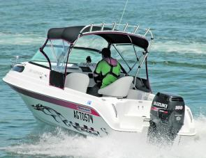 The 100hp Suzuki gives plenty of grunt for family or fishing use.