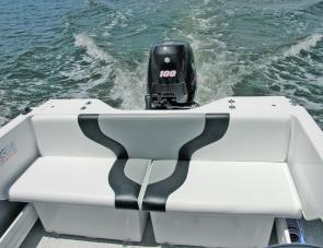 Paired under-seat storage boxes and bait tanks are a great aft feature of the YaltaCraft.