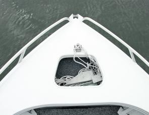 A generously large anchor well is a handy feature of this neat fishing craft.