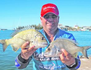 Bream like these will start to spread throughout the system this month and and be caught on bait and lures.