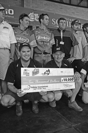 Chris Britton and Anthony Wishey were pretty happy to take home the $10,000 winners cheque.