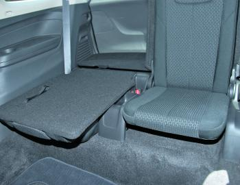 A 50/50 split fold capability as well as a full fold down is a handy aspect of the MU-X's third row of seats.
