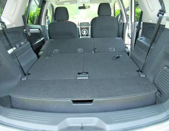 With all rear seating down there is a 1700mm long cargo area on hand.