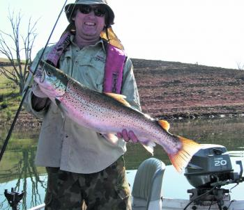 Quality trout are not hard to find, and are more aggressive during the winter months.