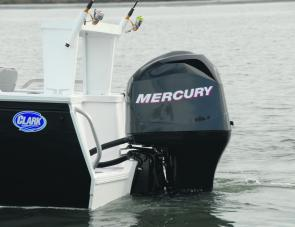 The 90hp Mercury EFI four stroke is an ideal match for the Dominator.
