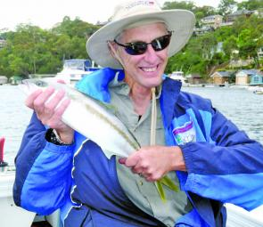 Rob Humphries scored this kingfish in Port Hacking. At first he thought it was a whiting.