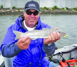 Dave Tosland with a mighty whiting that took a blade.