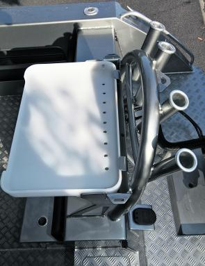 A bait board and rod holder complex is available as an option, complete with steel ski tow point.