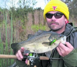 Surface bass in the Winter? You bet!