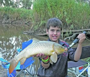 There have been plenty of carp of all sizes in the Wimmera River lately.