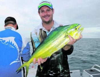 Luke with a sweet mahimahi.