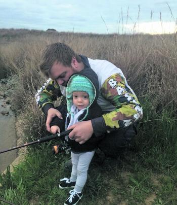 The author managed to take his son Ayden fishing for the first time.