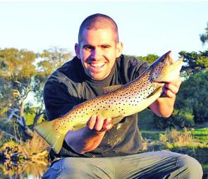Shaun Kelly with a typical winter brown.