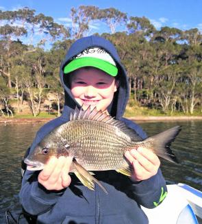 Plenty of bream like this 35cm fish will be actively taking baits or smashing lures this month.