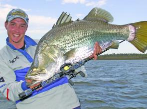 Impoundment barramundi will be an excellent target in the warm month of December at Peter Faust Dam.