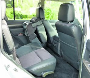 Split fold and tumble down second row seating is a Pajero feature.