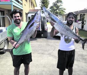 The Stanthorpe boys did better than most last season with the few outings they put in on the Iluka Wall. Steve Torrisi and David Marino even scored the daily double, a longtail tuna and a Spanish mackerel.