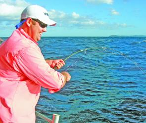 Steve salmon puts the hurt on a quality kingy on jigging gear.