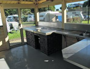 The Park's camp kitchen offers a convenient place to cook that well earned feed of fish.