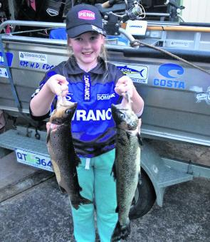 Get the kids involved and out on the water this summer. Zalee Fraser loves going out with Dad for a fish.