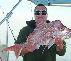 Aaron 'Greenhorn' Miller subdued this knobby snapper off Noosa in late August.