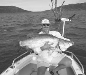 Arthur Lovern from Mackay caught this ripper barra from Peter Faust on the Daiwa BARRA tour and also won himself a trip on the Eclipse mothership operation out of Weipa.