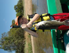 Kids love to fish for bass and it's a real buzz to watch them get nailed by a good fish.