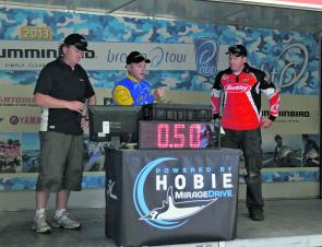 Day one leader Mark Gercovich fell short on day two, weighing in a lone 500g fish to hand Brad Hodges the win.