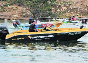Clancy was flying the flag for Humminbird, the new BREAM Series naming sponsor for 2013.