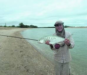 Queenfish are fun on the fly rod and are pretty good in a curry as well.