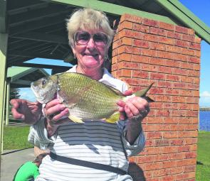 Marg Curtis with a 1.2kg Manning estuary bream