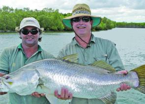 Fish like this barra help keep Hinchinbrook a top fishing destination.