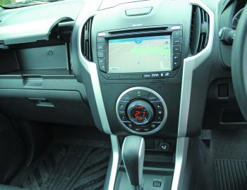 A similar dash setup to the previous model confirms that Isuzu hold fast to the concept of staying with a good thing.
