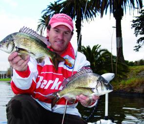 Bream have been caught in both the Yarra and Maribyrnong rivers. Mostly they are to be found upstream as they school up for spawning (photo: Brent Hodges).