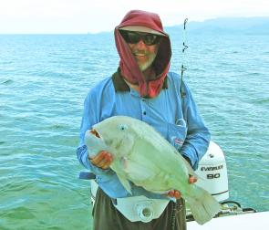 Graham Lawson from Townsville with a 5kg tuskfish caught on an inshore shoal.