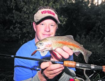 It is not just brown trout that are the target; rainbows are also a viable catch.