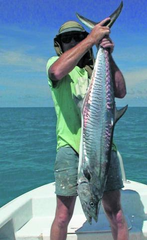 Trailer boat fishers have ran into some truly brilliant Spanish mackerel.