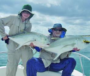 Trevally are just one of the numerous species that can be caught in Weipa waters.