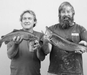 Lance (left) and Mick with their pair of Banimboola browns.