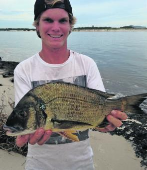 Tommy Law caught this great bream in lower Narrabeen Lake.