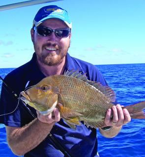 Lee Hutchinson was very impressed with this sweetlip caught from the reefs around Masthead.