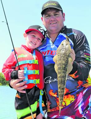 Aaron and William Sharp enjoyed some father and son fishing time and nailed some good flathead on the job!