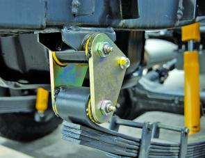 Greasable shackles are custom-made to extract maximum performance from leaf suspension set ups.