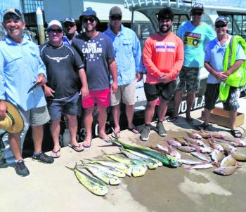 A quality mixed bag like this will provide many feeds for these happy anglers.