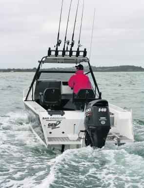 The helm is perfect for a boat with its rough water pedigree – everything is in the perfect place.