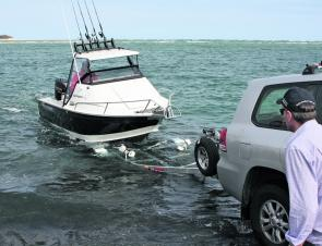 The trailer design is perfect for the boat – difficult conditions for loading are handled with ease.
