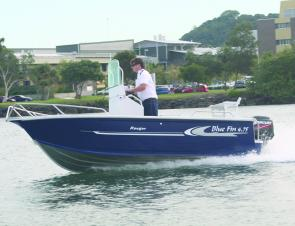 With the 60hp Mercury two-stroke, the Blue Fin Ranger hit a respectable 31 knots two-up.