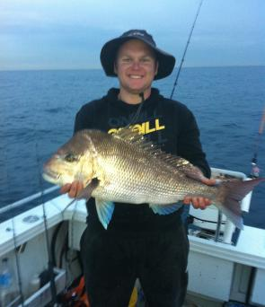 Anthony Ball caught this snapper off Long Reef.